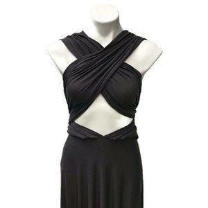 Lulus Gray Tricks of Trade Maxi Dress XS
